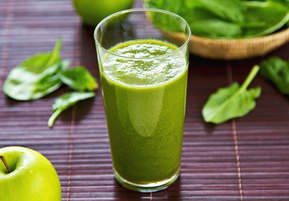 Zelené smoothie: jablká so špenátom recept